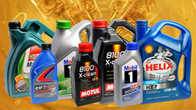 Моторные масла различных вязкостей и производителей
